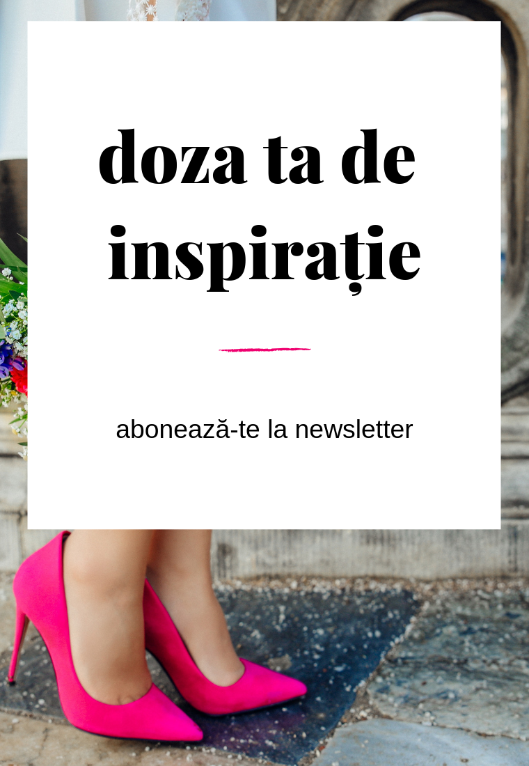 Inspirație & idei proaspete, direct în căsuța de email
